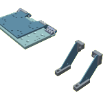 Hinge kit components