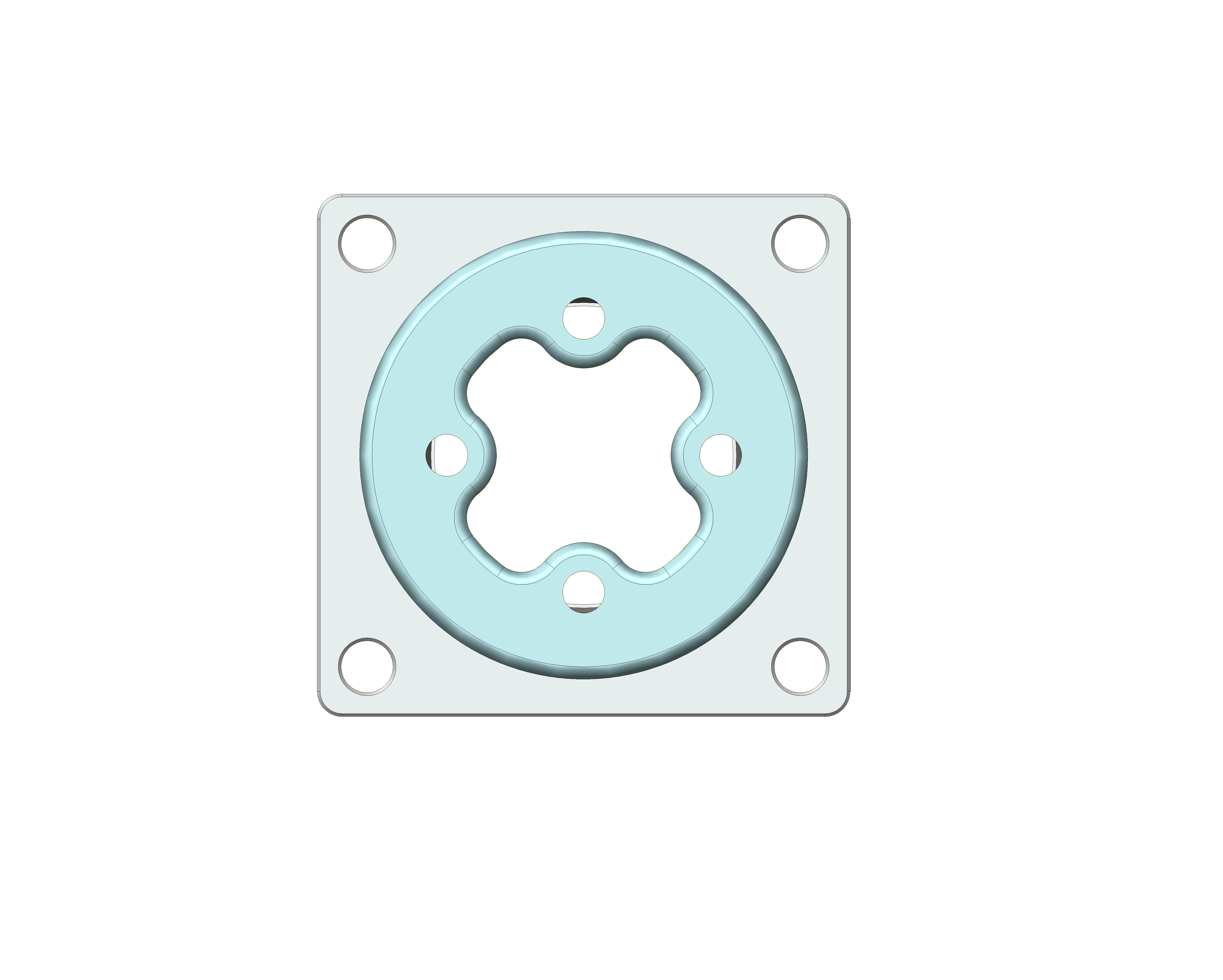Top View showing universal adapter