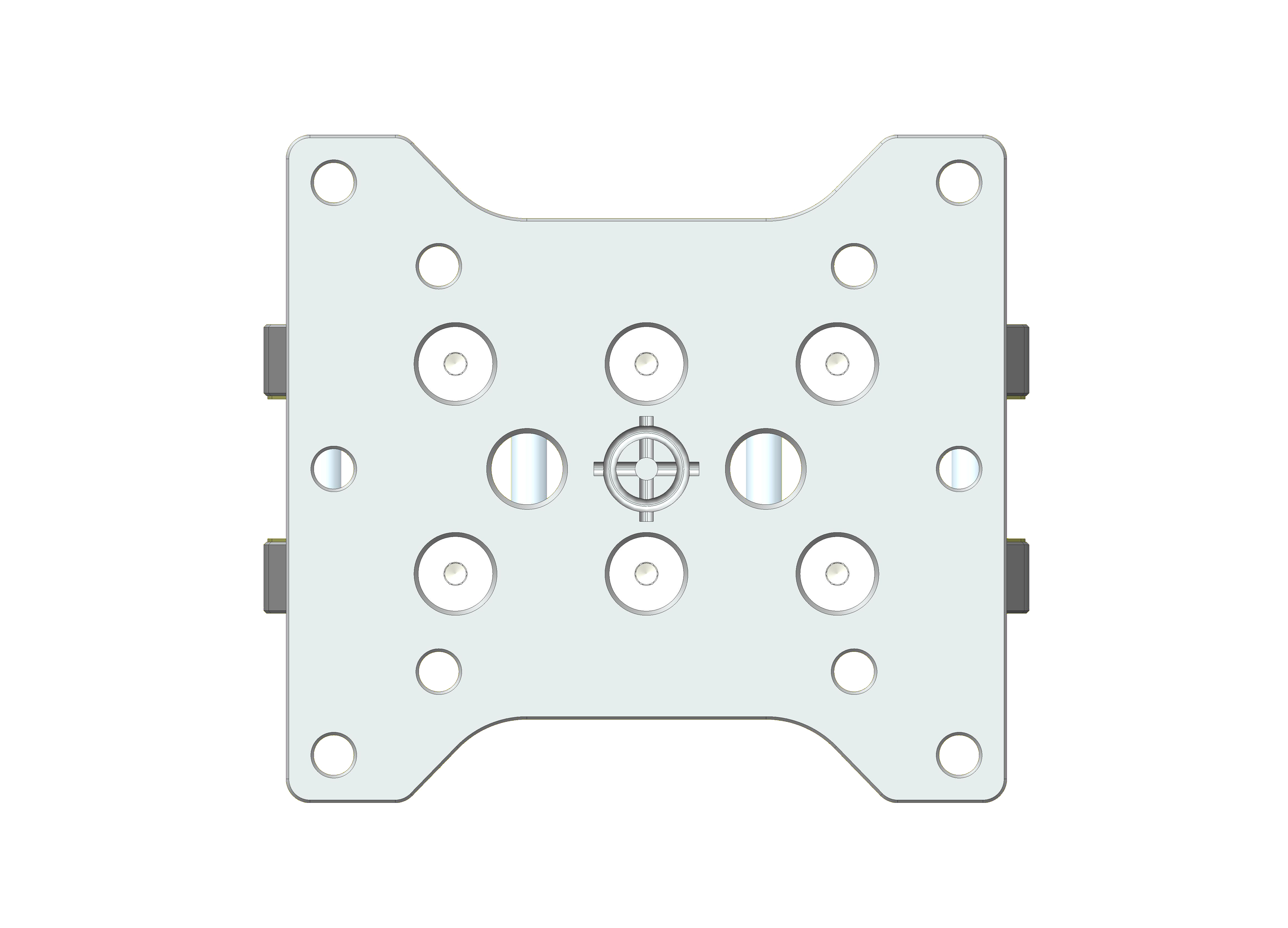 Top View shows USM RP for offset measurements